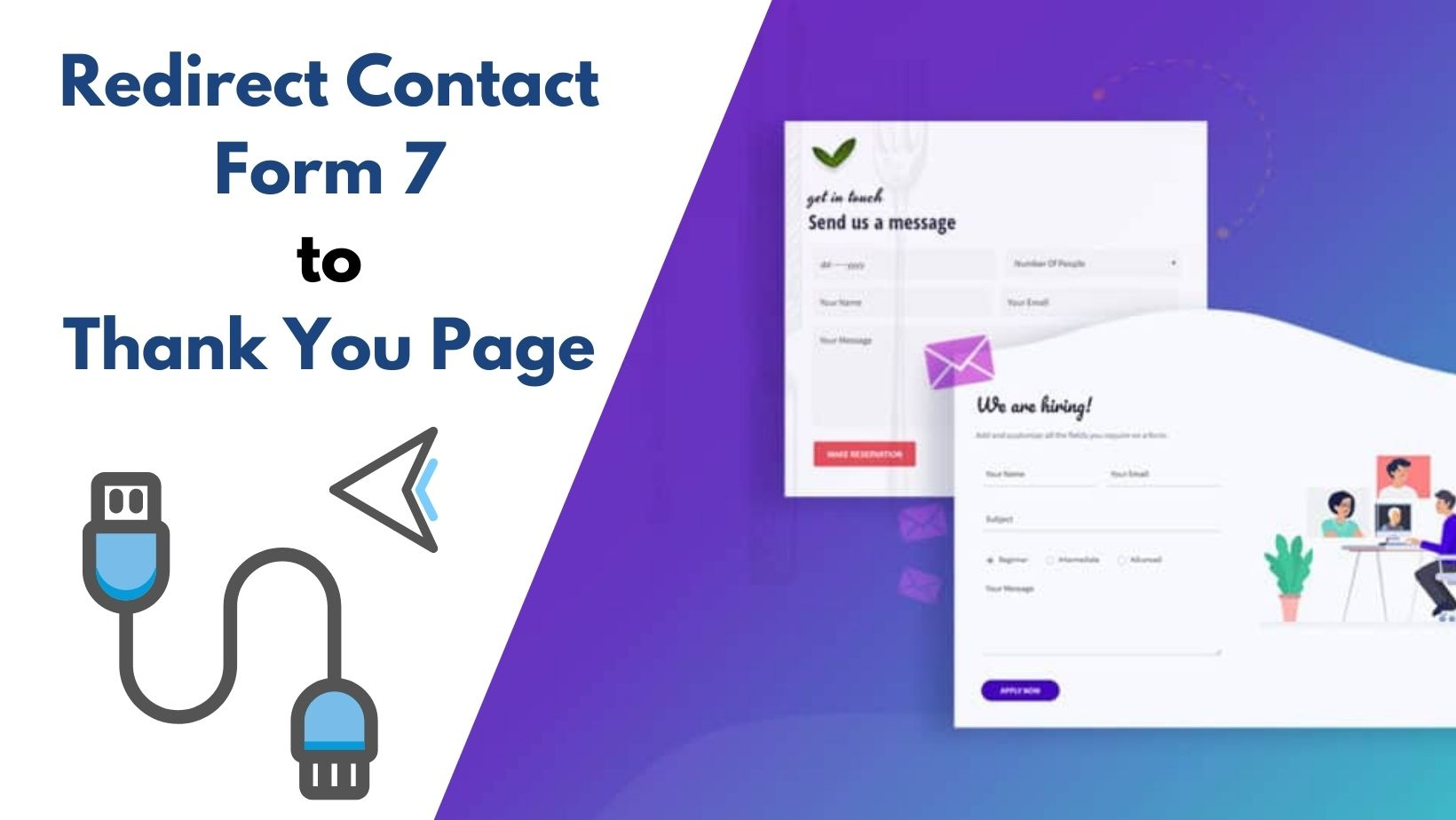Contact form 7 to thank you page redirection