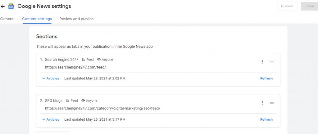 google news publisher center